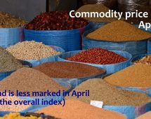Commodity price indices in April 2015