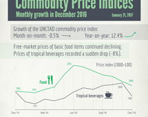 Commodities price indices in December 2016