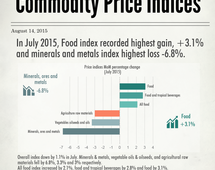 Commodity price indices in July 2015